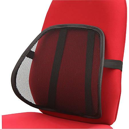 Lorell® Ergo Lumbar Back Support, Mesh, Black
