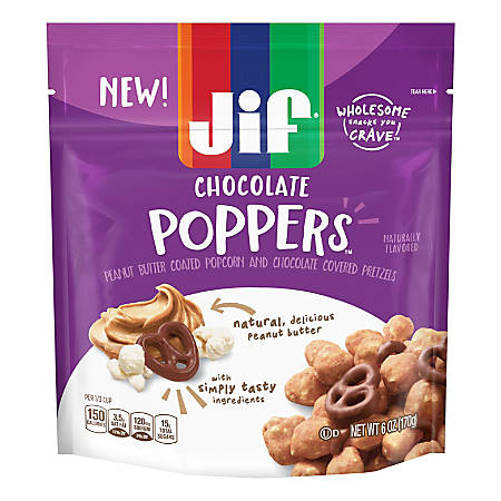 Jif Peanut Butter Chocolate Poppers, 6-Oz Bag