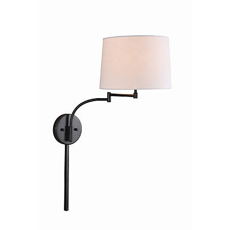 """Kenroy Home Seven Wall-Mount Swing Arm Lamp, 13-1/4""""H, Oil-Rubbed Bronze"""