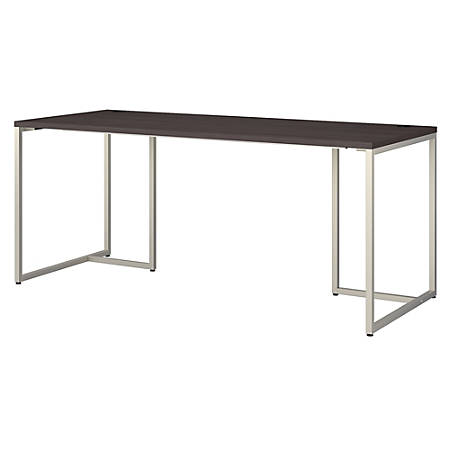 "kathy ireland® Office by Bush Business Furniture Method Table Desk, 72""W, Storm Gray, Premium Installation"
