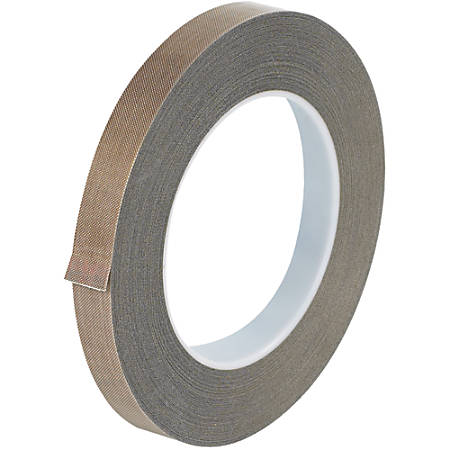 """Office Depot® Brand PTFE Glass Cloth Tape, 10 Mils, 3"""" Core, 0.5"""" x 108', Brown"""