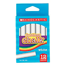 Scholastic Dustless Chalk White Pack Of