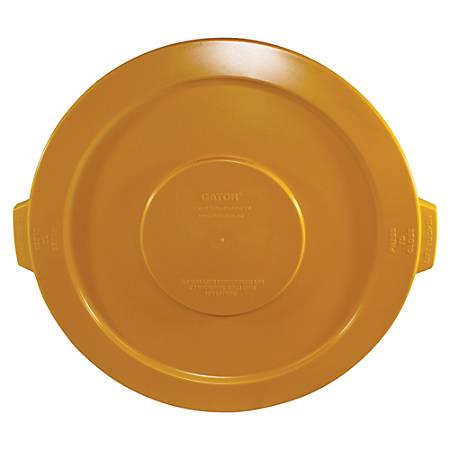 Gator 32-gallon Container Lid - Round - Polyethylene, Resin, Plastic - 1 Each - Yellow