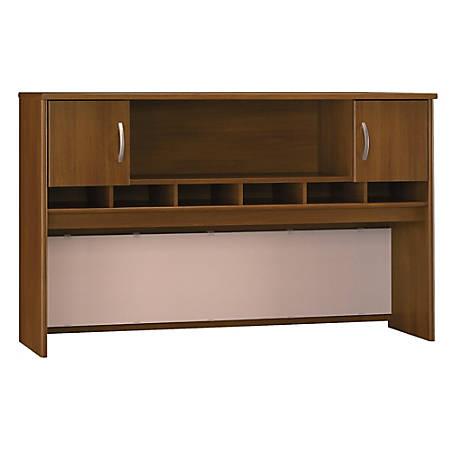 "Bush Business Furniture Components 2 Door Hutch, 72""W, Warm Oak, Premium Installation"