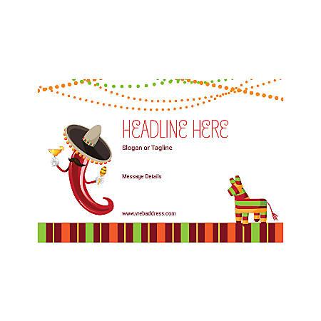 Custom Poster, Horizontal, Mexican Chili Hat