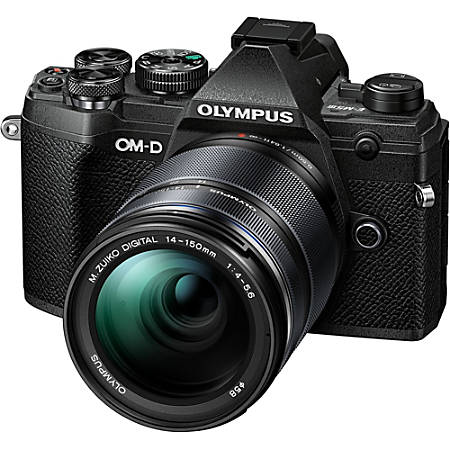 """Olympus OM-D E-M5 Mark III 20.4 Megapixel Mirrorless Camera with Lens - 14 mm - 150 mm - Black - 3"""" Touchscreen LCD - 10.7x Optical Zoom - Optical (IS) - 5184 x 3888 Image - 4096 x 2160 Video - HD Movie Mode - Wireless LAN"""