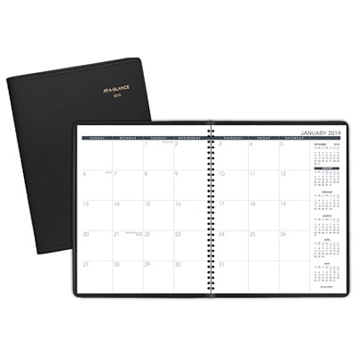 at a glance 15 month monthly planner 8 78 x 11 black january 2019 to
