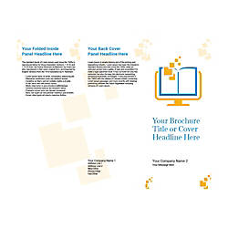 Customizable Trifold Brochure Digital School Book