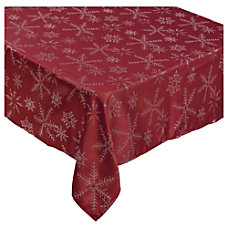 Amscan Christmas Snowflake Fabric Table Cover