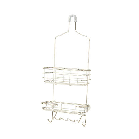 "Honey-Can-Do Stainless-Steel Shower Caddy, 25""H x 10 1/4""W x 4 1/4""D, Chrome"