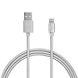 iHome Nylon Aluminum Lightning Cable 10