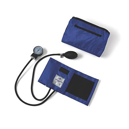 Medline Compli-Mates Handheld Aneroid Sphygmomanometer, Adult, Royal Blue