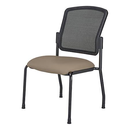 WorkPro® Spectrum Armless Guest Chair, Beige/Black