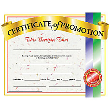 Hayes Certificates Of Promotion 8 12