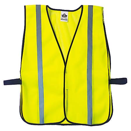 Ergodyne GloWear 8020HL Non-Certified Standard Safety Vest, One Size, Lime
