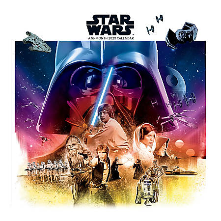"Sandylion 16-Month Wall Calendar, 12"" x 12"", Star Wars™, September 2019 To December 2020"