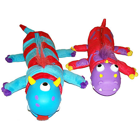 """Inkology Bug Eye Pencil Pouches, 3"""" x 11-1/2"""", Monster, Pack Of 6 Pouches"""