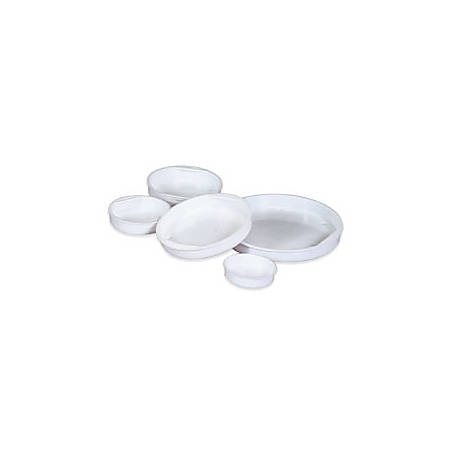 """Office Depot® Brand Plastic End Caps, 2 1/2"""", White, Pack Of 100"""