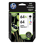 HP 6464XL TricolorBlack Ink Cartridges Pack