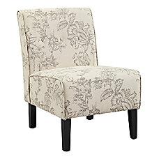 Linon Winston Accent Chair Gray ToileBlack