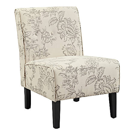 Linon Winston Accent Chair, Gray Toile/Black