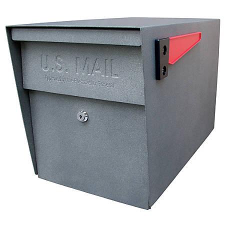 """Mail Boss™ Curbside Locking Mailbox, 13 3/4"""" x 11 1/4"""" x 21"""", Granite"""