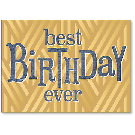 "Viabella His Birthday Greeting Card, Best Birthday Ever, 5"" x 7"", Multicolor"
