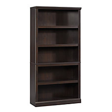 Sauder Select Bookcase 5 Shelf Jamocha