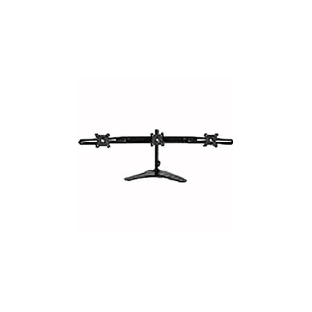 """Planar 997-6035-00 Triple Monitor Stand - 17"""" to 24"""" Screen Support - 58.20 lb Load Capacity - LCD Display Type Supported20"""" Width - Desktop - Black"""