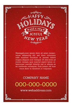 "A-Frame Sandwich Board Sidewalk Sign Template, 24"" x 36"" Insert, Red Holiday"