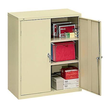 """HON® Brigade® Storage Cabinet, 2 Adjustable Shelves, 41 3/4""""H x 36""""W x 18 1/4""""D, Putty"""