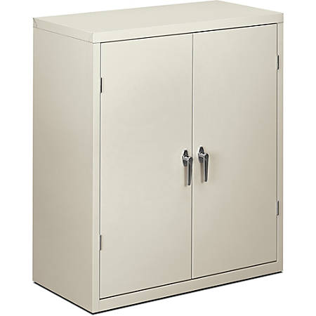 "HON® Brigade® Storage Cabinet, 2 Adjustable Shelves, 41 3/4""H x 36""W x 18 1/4""D, Light Gray"