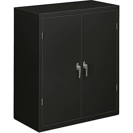"HON® Brigade® Storage Cabinet, 2 Adjustable Shelves, 41 3/4""H x 36""W x 18 1/4""D, Black"