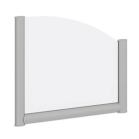 "Bush Business Furniture Desk Divider Privacy Panel, 24""W, Frosted Acrylic, Standard Delivery"
