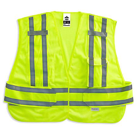 Ergodyne GloWear Safety Vest, Expandable, Type-P Class 2, 3X, Lime, 8244PSV