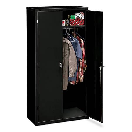 "HON® Brigade Storage Cabinet, Fully Assembled, 72"" H x 36"" W x 18 1/4""D, Black"