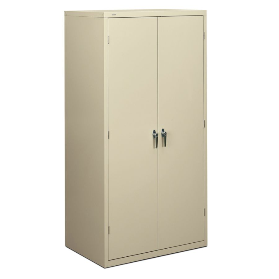 Hon Brigade Storage Cabinet 5 Adjustable Shelves 72 H X 36 W X 24 14 D Putty By Office Depot Officemax