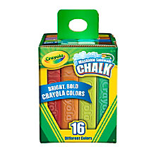 Crayola Sidewalk Chalk Bucket Of 16