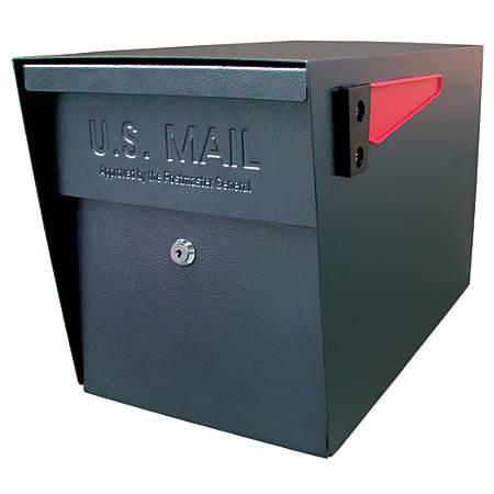 """Mail Boss™ Curbside Locking Mailbox, 13 3/4"""" x 11 1/4"""" x 21"""", Black"""