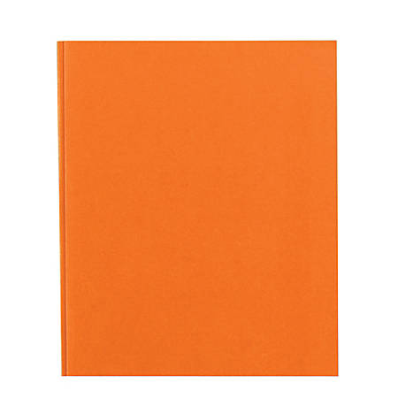 Office Depot® Brand School-Grade 3-Prong Paper Folder, Letter Size, Orange