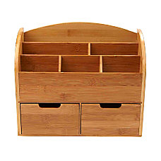 Mind Reader 6 Compartment Bamboo Desk