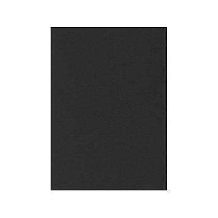 "LUX Flat Cards, A7, 5 1/8"" x 7"", Midnight Black, Pack Of 50"