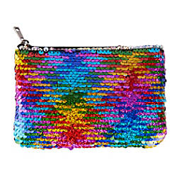 Office Depot Sequined Coin Purse Rainbow