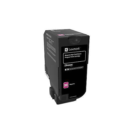 Lexmark™ Unison High-Yield Return Program Toner Cartridge, CS725, Magenta (74C1HM0)