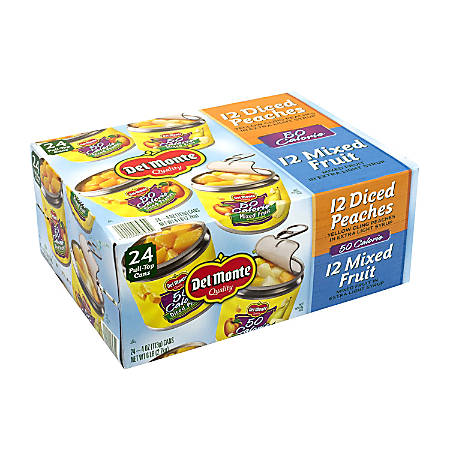 Del Monte 50-Calorie Lite Variety Fruit Cups, 4 Oz, Box Of 24 Cups