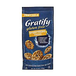 Gratify Gluten Free Everything Pretzel Thins