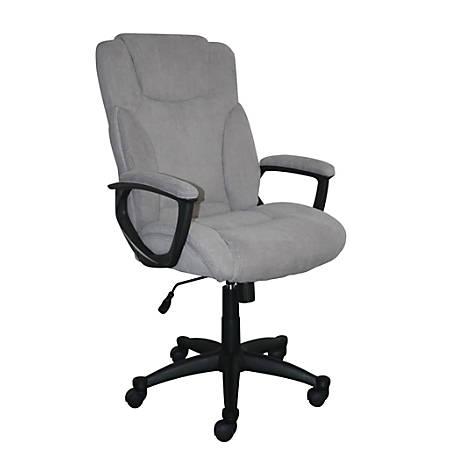 Serta Style Hannah II High-Back Office Chair, Microfiber, Harvard Gray/Black