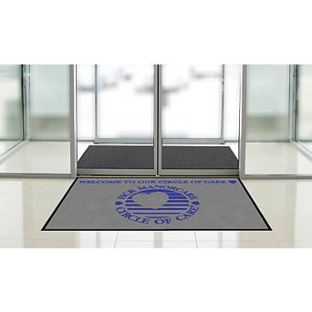 """Indoor Logo Nylon Floor Mat, Landscape, 3"""" x 5"""""""