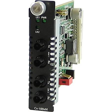 Perle CM-100MM-S2ST20 Media Converter - 2 x LC Ports - DuplexLC Port - 100Base-FX, 100Base-LX - Internal