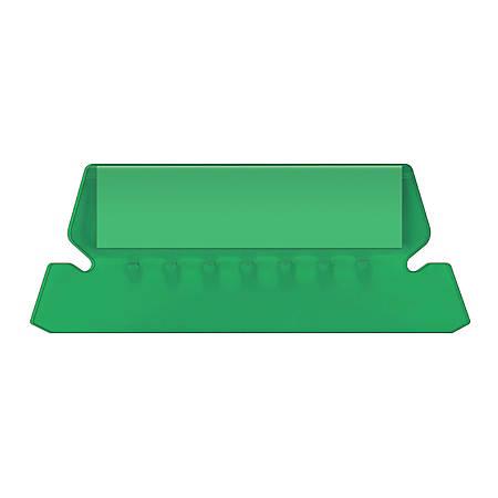 Pendaflex® Hanging File Folder Plastic Tabs, Green, Pack Of 25
